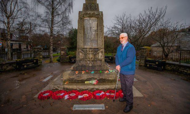 Ian Gilbert at Pitlochry War Memorial