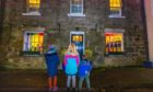 The colourful lights were enjoyed by adults and children alike.