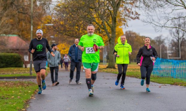 John, wearing number 55, was joined by running pals Steven Watt, David Stokoe and Caroline Duffin amongst others throughout his challenge.
