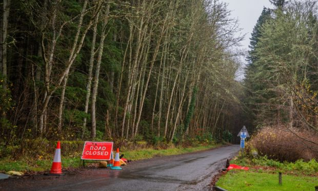 The road between Forgandenny and Ardargie is still closed.