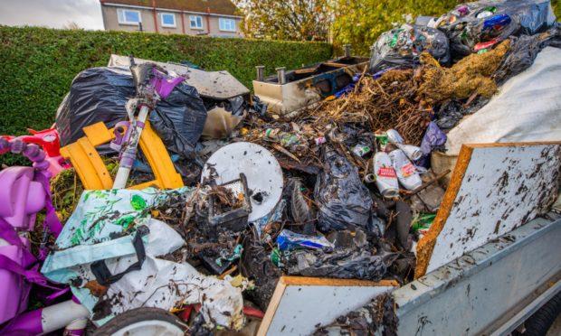 Burnt waste near Strathord Terrace