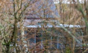 Kennels at the alleged puppy farm in Perthshire.
