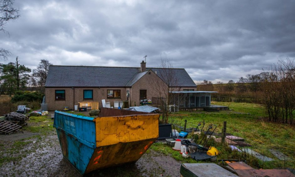 The farm at the centre of the human trafficking probe.