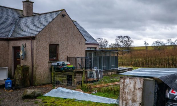 The alleged puppy farm in Glenalmond.