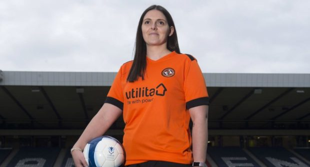 Former Dundee United defender Kirsty Oliphant.