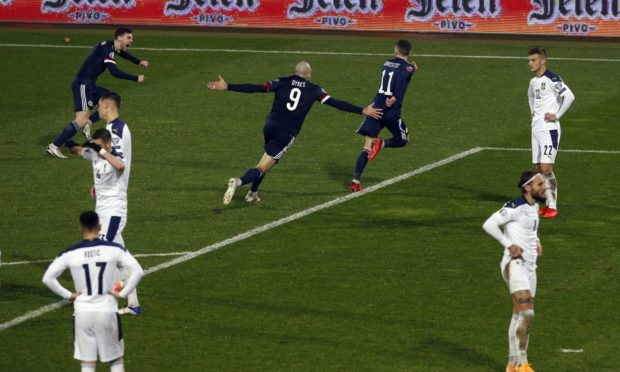 Scotland's heroes celebrate Ryan Christie's goal.