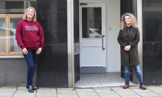 Sandra Ramsay (left) of Reach Across and Arbroath councillor Lois Speed.