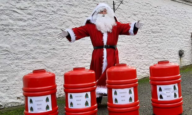 Santa post boxes have been placed in Forfar schools.
