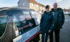 Allan Bryant Senior with Marie outside their home in Glenrothes.