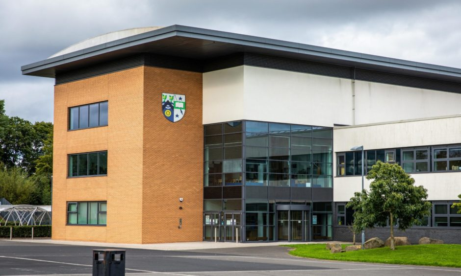 Around half the pupils at Auchmuty High School in Glenrothes are off