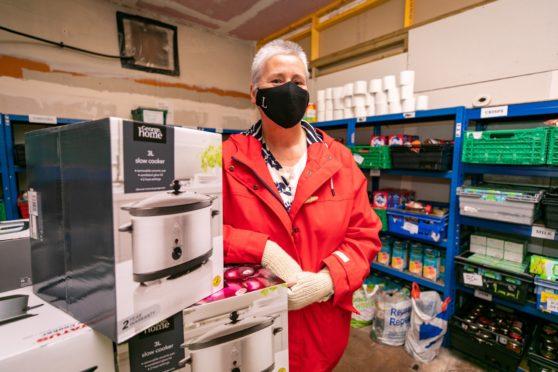 Donor Linda Millar at Perth Foodbank.