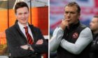 Dundee United academy chief Andy Goldie and manager Micky Mellon.