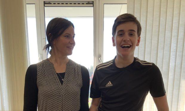 Wil Ritchie and mum Karen.