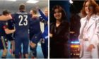Scotland players celebrate victory over Serbia and promotion to Euro 2020 with Baccara's Yes Sir, I Can Boogie.