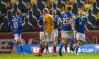Callum Hendry celebrates his goal.