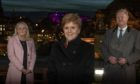 Scottish National Investment Bank chief executive Eilidh Mactaggart, First Minister of Scotland Nicola Sturgeon, Bank chair Willie Watt.