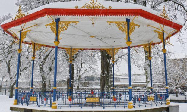 The bandstand in Haugh Park, Cupar