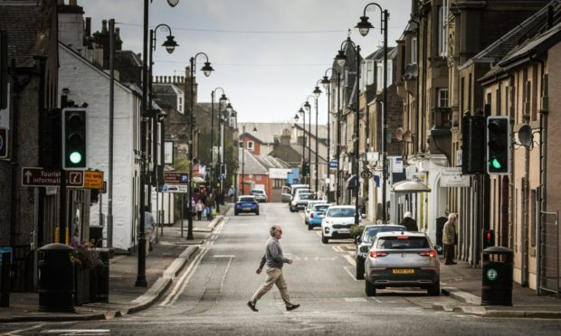 Carnoustie's High Street during the lockdown in April.