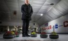 Forfar Indoor Sports owner Mike Ferguson at the empty town curling rink.