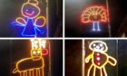 Poppy McKenzie Smith's images of the Christmas lights in Newburgh, Fife, went viral.