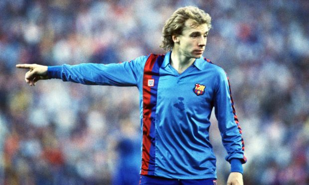 Steve Archibald during his time at Barcelona.