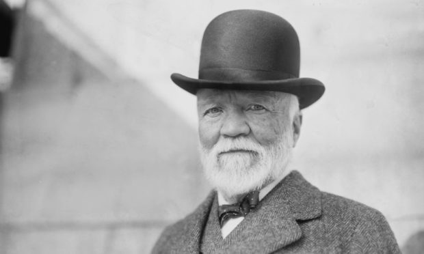 Andrew Carnegie in New York in October 1913.