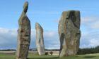 Standing Stones, Lundin Links.