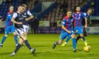 Jordan McGhee slots home to make it 2-2  between Dundee and Inverness Caledonian Thistle.