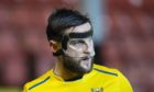 Craig Conway with his 'welding' mask.