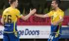 Liam Craig and Callum Booth celebrate getting to the semi-final.