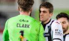 Iain Wilson congratulates Zander Clark.