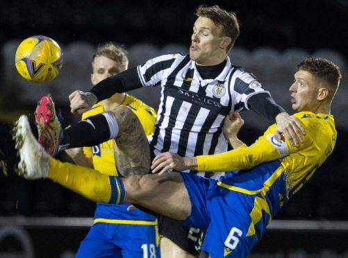 Liam Gordon in action against St Mirren.