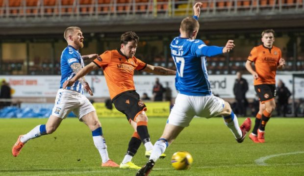 Marc McNulty opens the scoring for United.