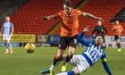 Marc McNulty in action against Kilmarnock.