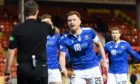 St Johnstone players were furious with ref Alan Muir.