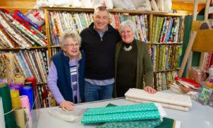 Bill Sturrock with mum Helene (left) and manager Shirley Hynds.
