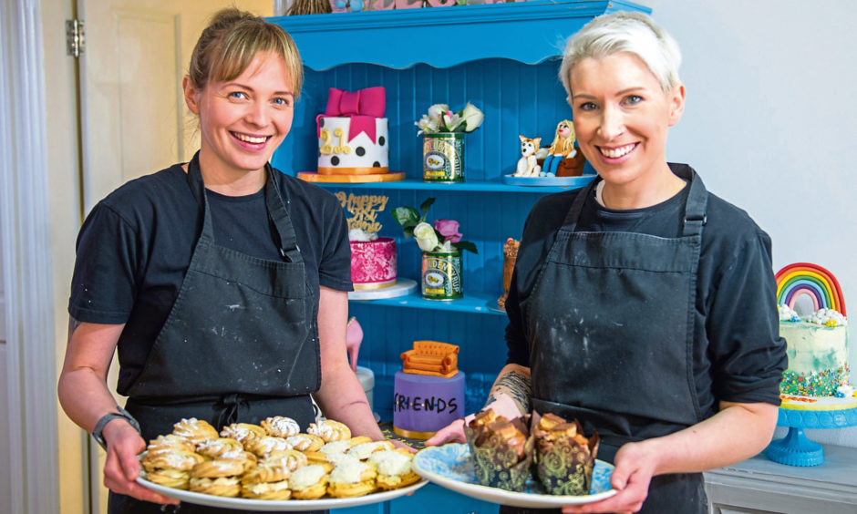 Sarah Martin and Rosie Macgregor of Temptations Boutique Bakery, Cupar.