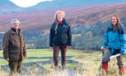VISION: Ken Greenland, Helen Webb and Sarah Toulson on the Sutherland estate.