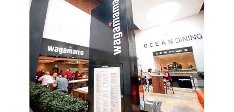 Wagamama, Ocean Terminal, Leith.