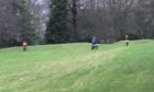 Bikers on the old Camperdown golf course.