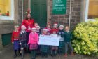 Pupils at Ardvreck School, Crieff with teacher Tracey Cashman.