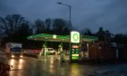 The BP filling station.