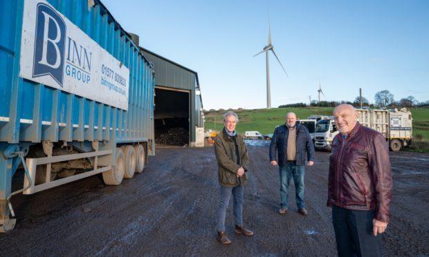 Chairman John MacGregor, Chief executive Allan MacGregor and  John Ferguson at the location of new £60m incinerator at Binn Farm.