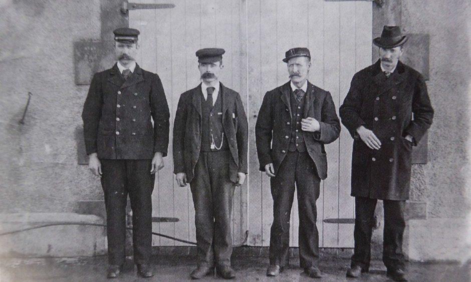 Thomas Marshall, James Ducat, and Donald MacArthur with superintendent Robert Muirhead.