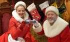 Clare Grogan and Colin McCredie in Pitlochry Festival Theatre's Christmas filmed production of The Magic of Christmas