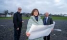 Anna McLean, chairwoman of Crieff Highland Gathering, David Geddes (Vice Chair) and Colin Grassick at Market Park in Crieff