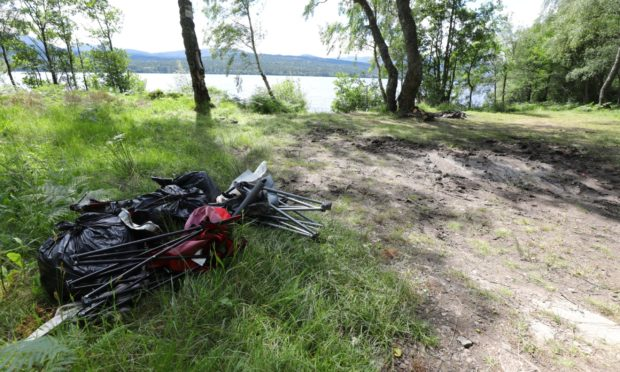 Residents around Loch Rannoch have been tormented by the menace of dirty campers all summer.