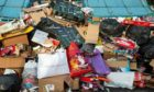 The scene at the Tesco Duloch recycling point last year.