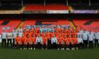 The Dundee United team photo which was heavily criticised by the Scottish Government