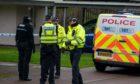 Police in Leishman Drive, Dunfermline.
